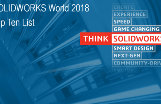 Lista TOP 10 SOLIDWORKS World 2018
